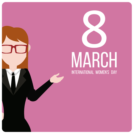 commemoration day: woman day design over fuchsia color Illustration