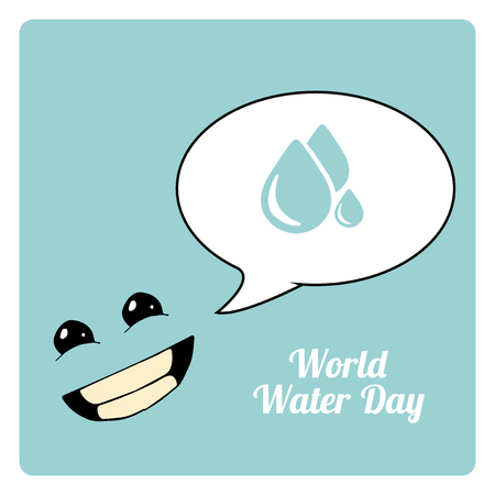 environmental awareness: faces in the world waer day in blue color