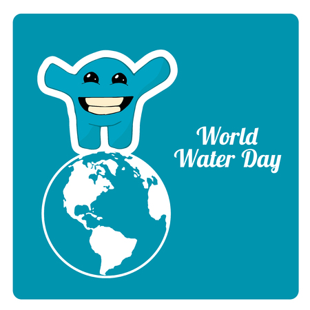 environmental awareness: monster in the world water in the blue color