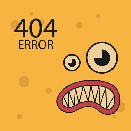 error: 404 error conexion over color background