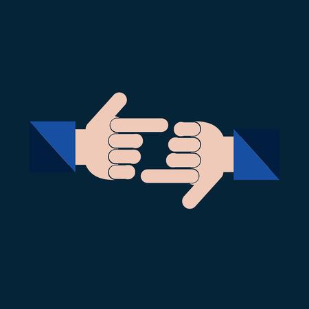 gestures: hand gestures in color backdrop
