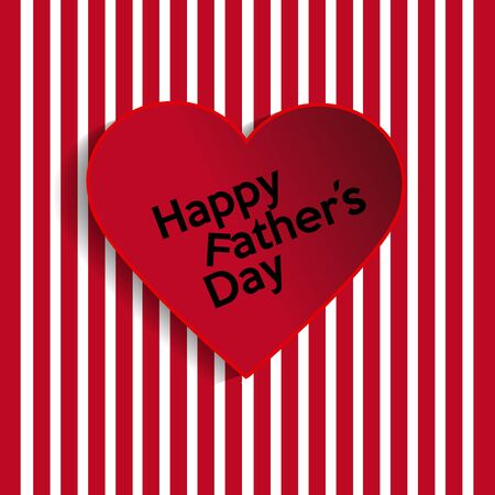 father s day: Illustration father-,s day, red heart over white and red stripes