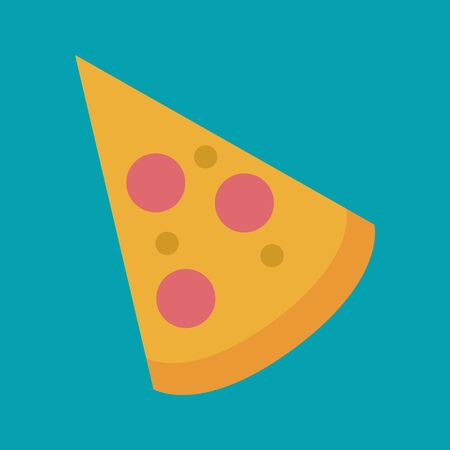 portion: portion of the pizza  illustrationon  blue color backdrop Illustration