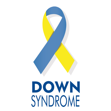 Illustration of loop with symbolic colors of down syndrome