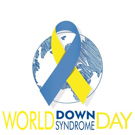 Planet covered by the down syndrome international day tie