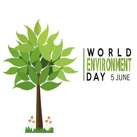 vector of a world environment day  over white backdrop Illusztráció