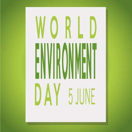 poster  of a world environment day over green  color backdrop