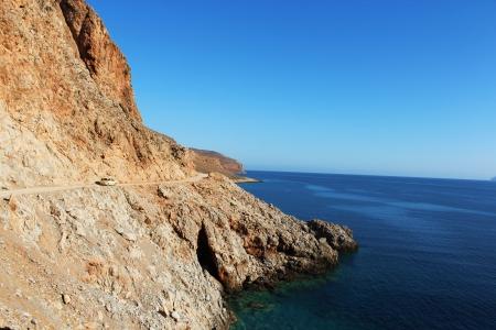 Górska droga na greckiej wyspie Krecie