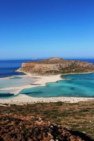Balos Lagoon Crete Stock Photo