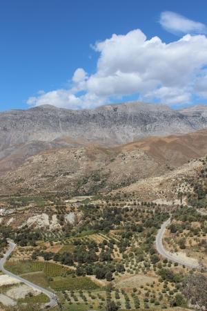 Mountain scenery Crete Stock Photo