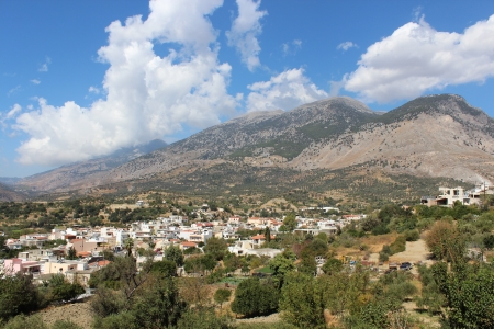 Mountain village of Crete Stock Photo - 16759463