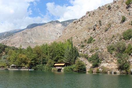 Lake Votomos near Zaros in Crete Editorial