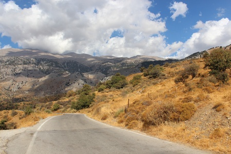 Mountain road on Crete Stock Photo - 16759460