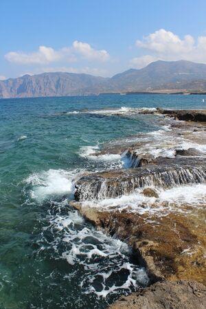 Skaliste wybrzeża Kreta Zdjęcie Seryjne