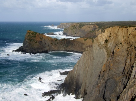 Rugged coastline of Arrifana, Portugal