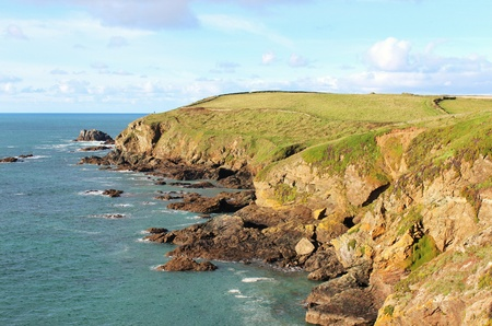 The coastline of Lizard Point in Cornwall, England
