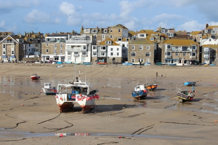 The harbour at St Ives in England
