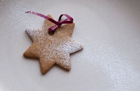 powdered sugar: Star shaped cookie