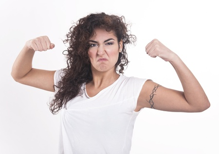 strongest: Strongest woman in the world  Stock Photo