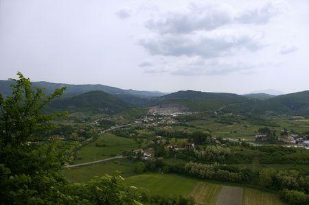 Panorama visto da Pazin, Istria