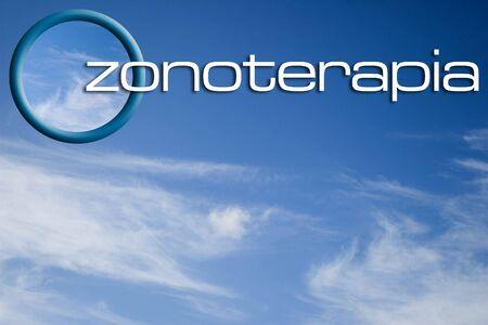 Ozone O3 logo on the sky