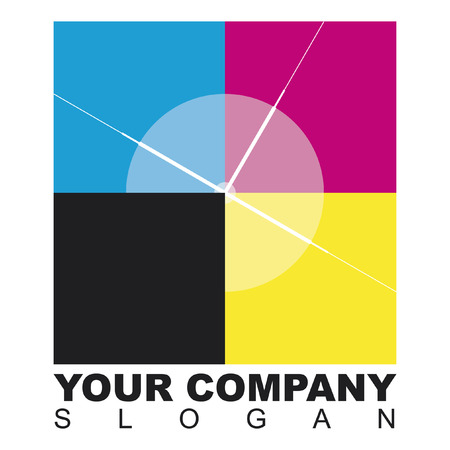Logo quadrati stampa Vector