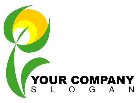 florist: Company logo with floral pattern