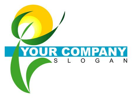 ecosistema: Logotipo de la empresa con patr�n floral