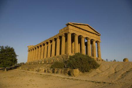 Temple of Concordia. Agrigento, Sicily