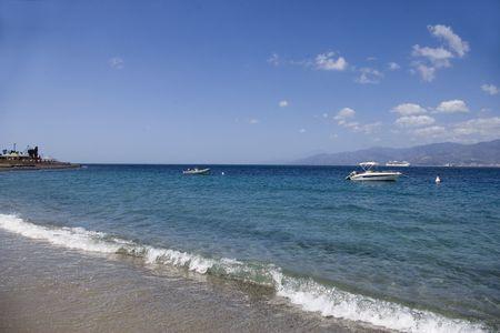 The sea of Catona, Reggio Calabria Stock Photo