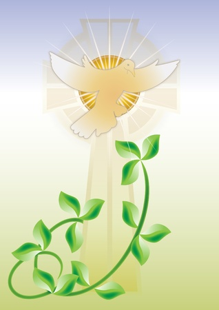 premi�re communion: Carte de voeux pour confirmation Illustration