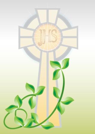 première communion: Carte de voeux pour la première communion Illustration