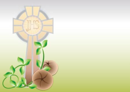eucharistie: Carte de voeux pour première Communion