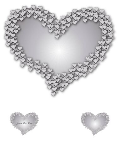 recurrence: Heart surrounded by crown of hearts