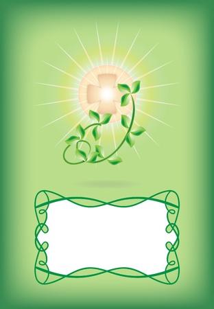 eucharistie: Carte de voeux pour la premi�re communion Illustration