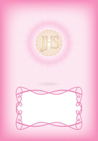 Greeting card for First Communion Stock Vector - 10844097