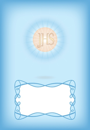 Greeting card for First Communion Vector