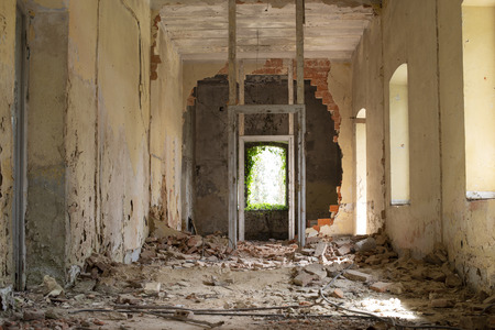 Inside an abandoned old house