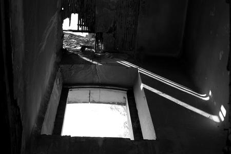 Light shadow window Banco de Imagens