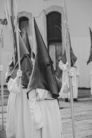 Procession Holy week Asturias. Stockfoto