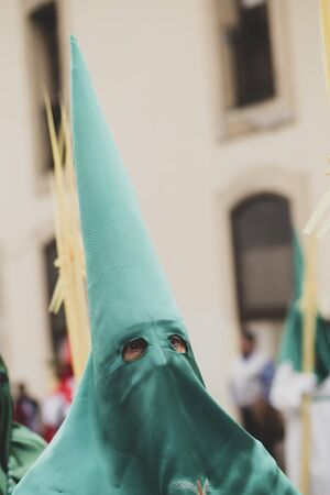 Hooded man in a procession, Holy Week Stock fotó