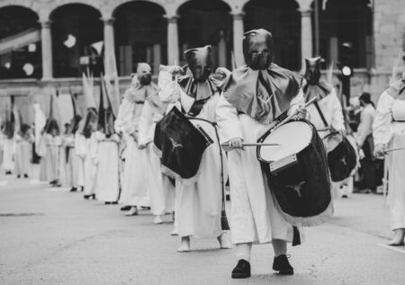 Drummers in a Procession, Holy Week