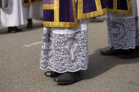 Clothing of priests, Holy Week Stok Fotoğraf