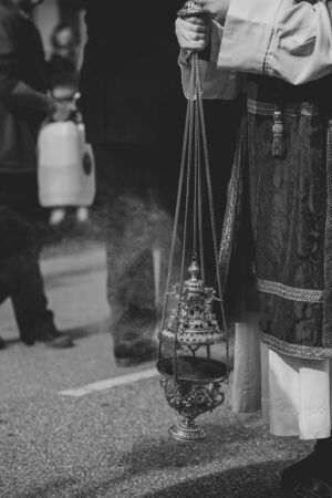 Close up of a censer in a procession, Holy Week Stock fotó