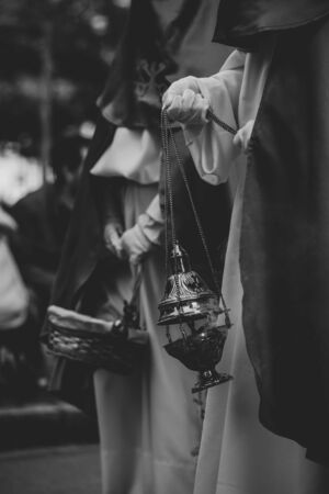 Close up of a censer in a procession, Holy Week Banco de Imagens