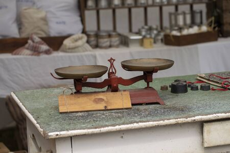 Antique Weigh And Old Measure Brass Scale