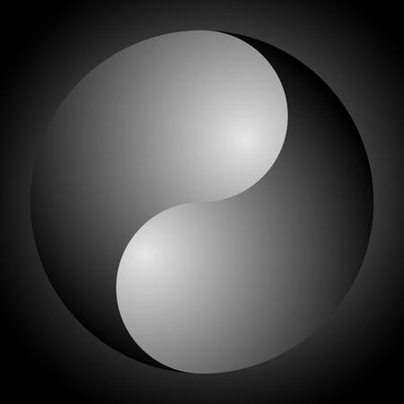 Yin Yang symbol on background