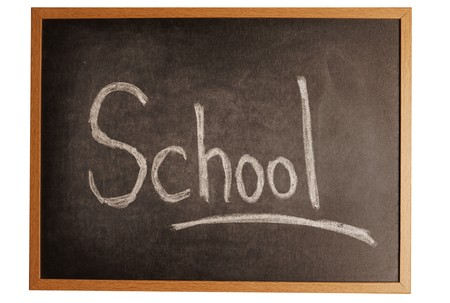 old board with school wrote on it Stock Photo - 4081106