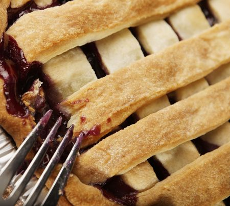 close shot of a pie and ustensil Stock Photo - 4242082
