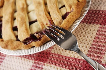 fresh pie with selective focus Stock Photo - 4242071